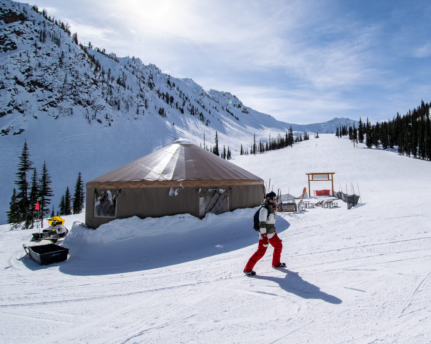 Kicking Horse ski resort restaurant