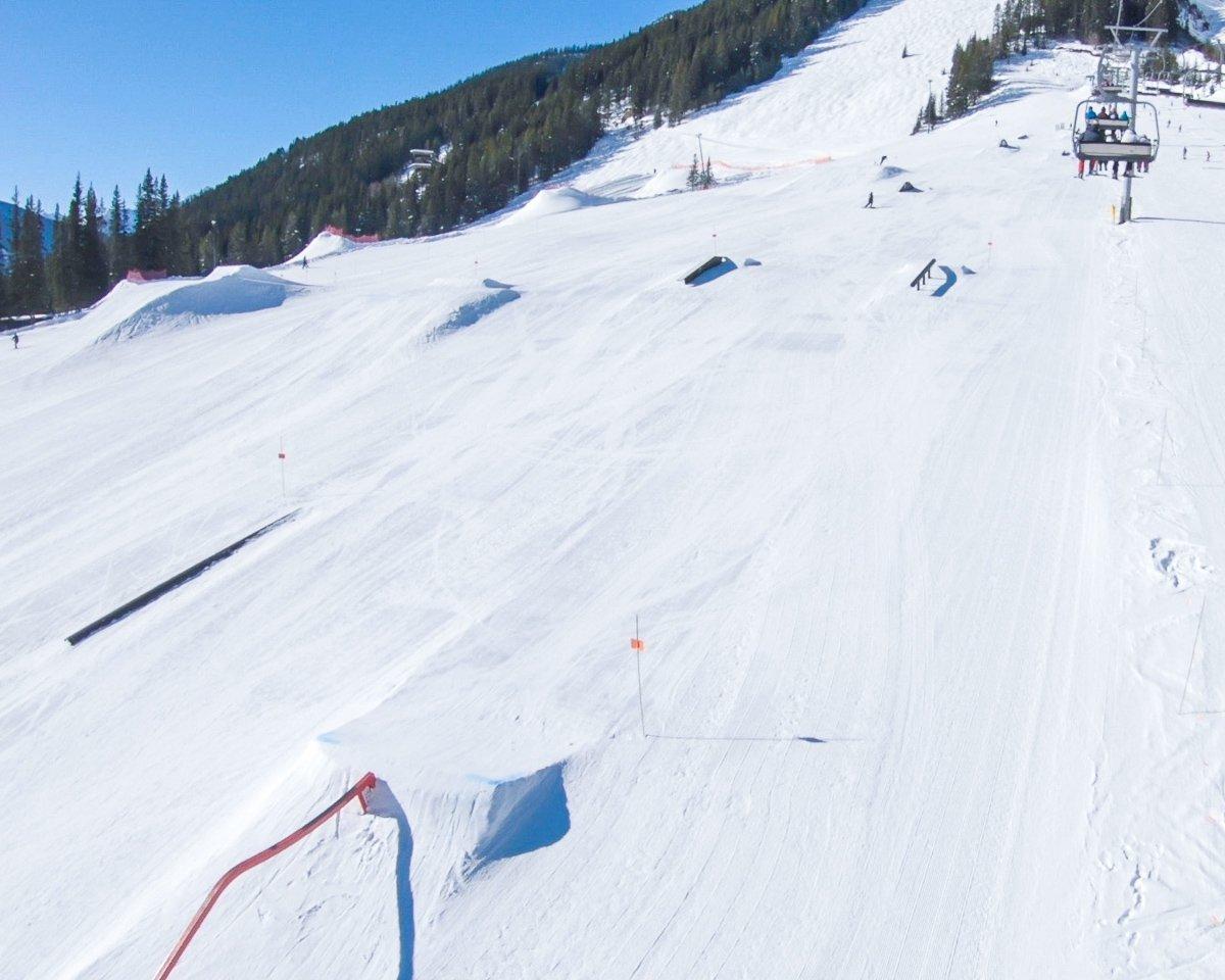 Norquay ski resort terrain park