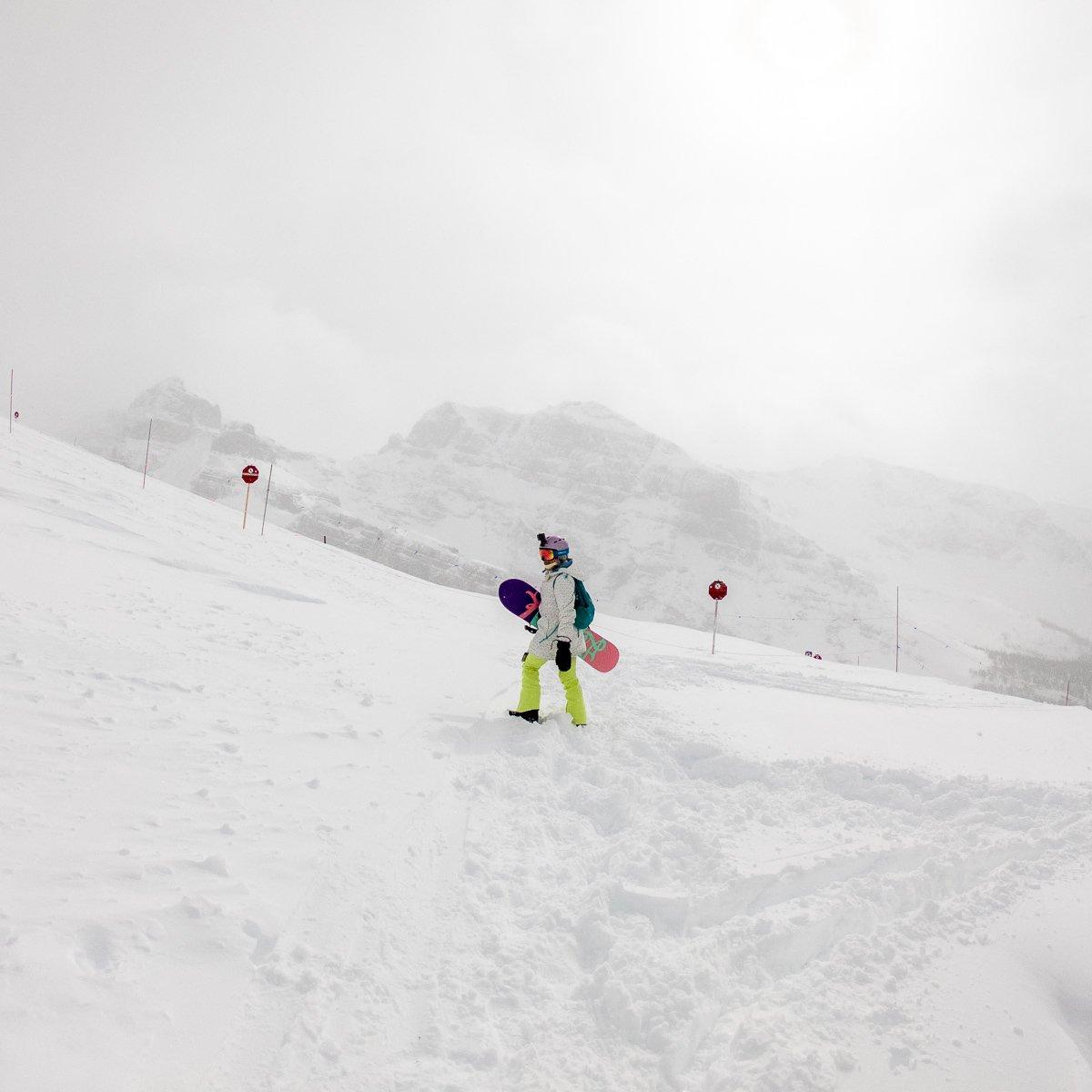 Banff ski resort Banff sunshine