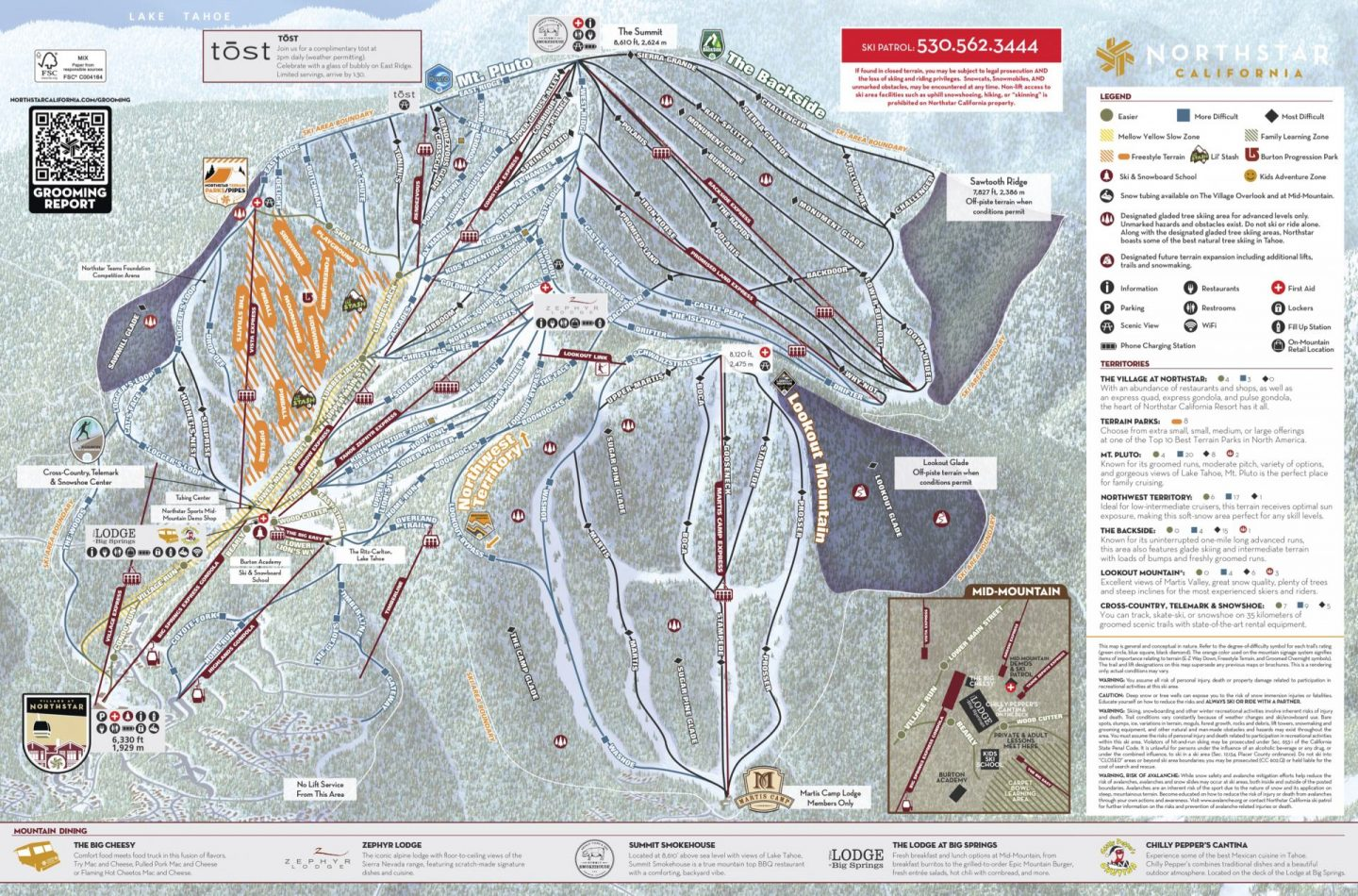 Northstar Winter Trail Map
